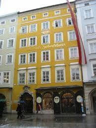 Motzart's home Salzburg Austria