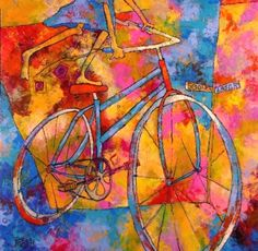 By Susan Webb Tregay -Tregay is a nationally recognized, award winning artist and exhibition juror. Art Periods, Digital Ink, Bicycle Art, Learn Art, Big Canvas, Adult Children, Elementary Art, Contemporary Paintings, Artist At Work