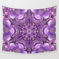 Truth Mandala in Purple, Pink, and White by Kelly Dietrich