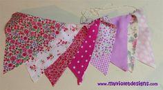Banderines rosa My Violet myvioletdesigns.com