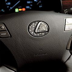 Steering Crystal Plate for Lexus. For sure want this on my future Lexus!