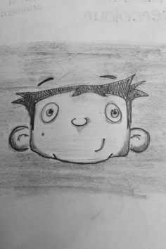 Doodle selfie of 6yr old Me