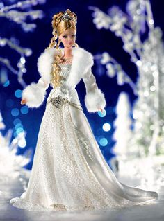 White Snow Princess Barbie with two looong ringlets From: glamour barbie dolls - Bing Images