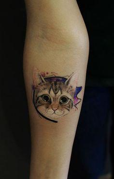 awesome cat tattoo by Tayfun Bezgin © tattoo artist ❤😻❤😻❤😻❤😻❤😻❤ Ebru Art, Cat Tattoo, Animal Tattoos, Love Tattoos, Tattoo Artists, Watercolor Tattoo, Body Art, Tattoo Ideas, Pure Products