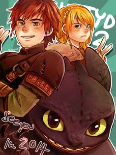 Beautiful ❤ Hiccup and Toothless ❤