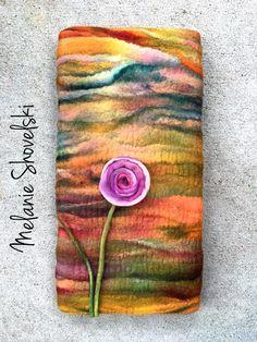 Melanie Shovelski felt landscape with pink flower Nuno Felting, Community Art, Fiber Art, Pink Flowers, Workshop, Landscape, Knitting, Wall Hangings, Artist