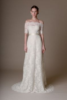 Lace off the shoulders: http://www.stylemepretty.com/2015/04/19/marchesa-bridal-spring-2016/