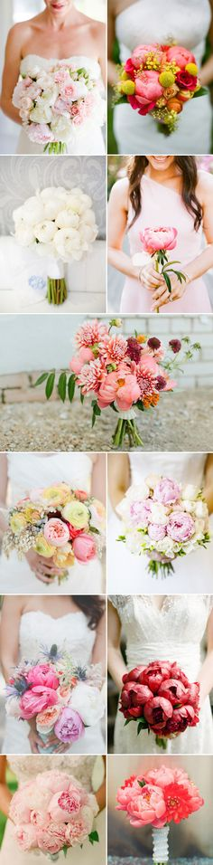 In all their fluffiness and colorful array, peonies certainly win the affection of brides as one of the favorite wedding flowers. Brides love their voluminous shape and the multitude of gorgeous colors they come in. Peonies look great by themselves in bud vases or grouped together in bouquets. Check out today's beautiful collection of wedding …