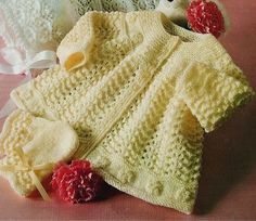 Ravelry: Matinee Coat pattern by Chevy Yarns Coat Patterns, Baby Knitting Patterns, Baby Patterns, Crochet Baby, Knit Crochet, Easy Knitting, Free Baby Stuff, Free Pattern, Babies Clothes