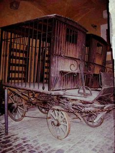 19th Century Wagon for Prisoner Transport