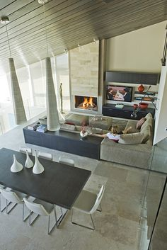 Three Arch Bay Residence - family room - contemporary - family room - los angeles - by Horst Architects