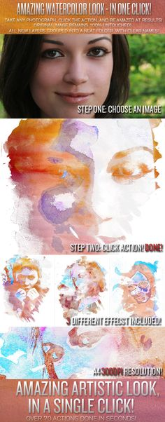 Creative Watercolor Photoshop Action | GraphicRiver