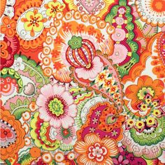 Alexander Henry Sloane Persimmon  Fat Quarter by BobbieLouFabric, $2.75