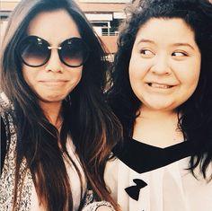 Raini Rodriguez(Trish) and her bestie Ashley Argota (Elle)