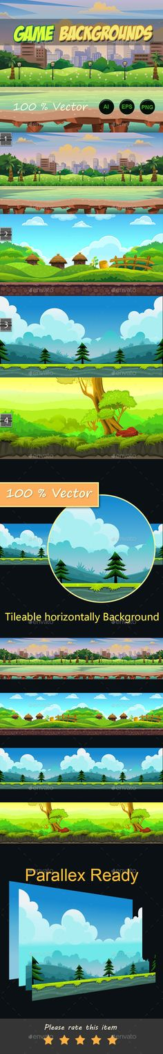 4 game backgrounds Download here: https://graphicriver.net/item/4-game-backgrounds/11109392?ref=KlitVogli