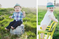 9 month old baby boy outdoor photo session by At Play Photo