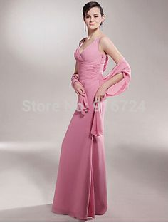 b15ff25d0be2 mother of bride Picture - More Detailed Picture about Sheath V neck Floor  length Chiffon Mother of the Bride Dress With A Wrap Picture in Mother of  the ...
