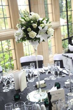 Raised Centerpiece- White lillies