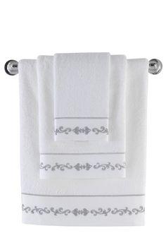Bambusové uteráky vo farbe bielej s rozmermi cm, cm a cm Baron, Towel
