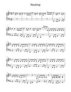 Print And Download In Pdf Or Midi Handclap Free Sheet Music For