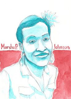 Investigate.Conversate. Illustrate: black history month Marsha P Johnson- Trans woman, activist
