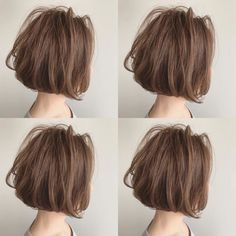 short hairstyles at home Medium Bob Hairstyles, Permed Hairstyles, Short Hairstyles For Women, Medium Hair Styles, Curly Hair Styles, Natural Hair Styles, Short Curly Hair, Short Hair Cuts, Layered Haircuts