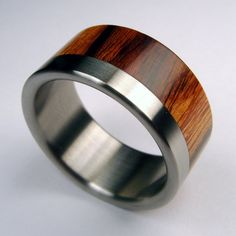 titanium and wood ring. very cool.