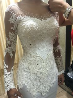 Gorgeous wedding gown by Bara Kebaya