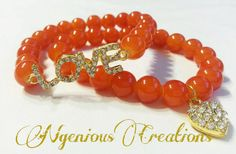 Golden Love 2pc Arm Candy Bracelet Set (5 color options) by NGeniousCreations, $15.00
