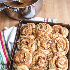 Dulce de Leche Pecan Sweet Rolls*