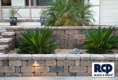 front yard planter designs | Raised Planter Retaining Wall Front Yard Picture