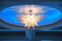 Seth Parks Designs Blown Glass Chandelier, Parking Design, Dresser As Nightstand, Hand Blown Glass, Paper Flowers, Glass Art, Table Lamp, Ceiling Lights, Parks
