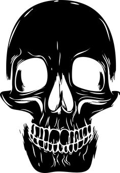 This spooky human skull silhouette wall sticker will add a spooky and macabre twist to your Halloween party! Available in a range of sizes that go as. Halloween Frames, Halloween Silhouettes, Halloween Stencils, Skull Face, Human Skull, Stencil Painting, Body Painting, Stenciling, Skull Silhouette
