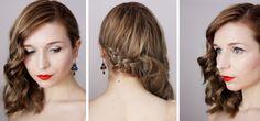 warkocz dobierany i loki na boku / braid & side swept waves // oncebeauties.blogspot.be