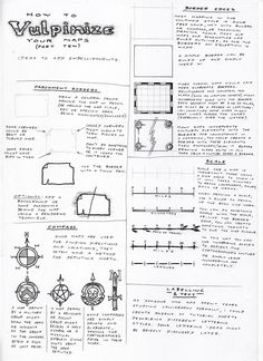 Observations of the Fox: Map Drawing Tutorial 10: Embellishments