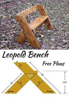 Holzprojekte Obtain FREE Leopold Bench Plans. I additionally present hyperlinks to a tutorial that m Woodworking Bench Plans, Easy Woodworking Projects, Diy Wood Projects, Furniture Projects, Diy Furniture, Building Furniture, Woodworking Techniques, Woodworking Classes, Rockler Woodworking