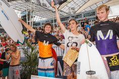 Jan Vogt, Lukas Brunner und Gerry Schlegel. Die Top 3 bei Surf & Style 2014