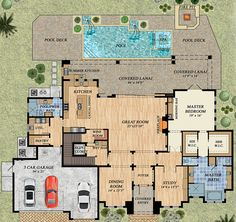 Upscale Florida House Plan - 31845DN | 1st Floor Master Suite, Beach, Butler Walk-in Pantry, CAD Available, Den-Office-Library-Study, Elevator, Florida, Luxury, PDF, Photo Gallery, Premium Collection, Southern | Architectural Designs