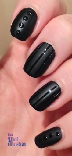 Nail Newbie 33 Day Challenge 3 Tape Manicure Annie Suzie Matte Glossy Manicures