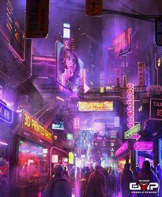 Cyberpunk , digital art , scifi , sci-fi , futuristic , future , concept