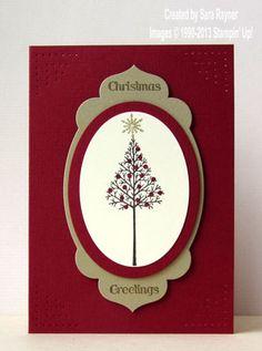 Warmth & wonder Christmas card - Stampin' Up!