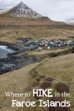 Here's our route for hiking in the Faroe Islands!