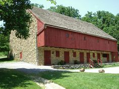 stone barn at Rock Ford Plantation in Lancaster Co, PA
