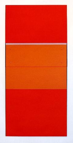 Michael Rouillard oil stick on aluminum panel