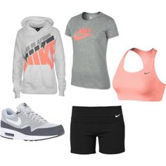 """""""NIKE Workout Outfit"""" by cnappi on Polyvore Want this SO bad!!  so cute"""