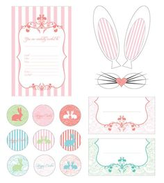 "Vintage Style Darling Vintage Easter Brunch { Free Printables} // Hostess with the Mostess® - We're loving the charming, shabby chic vibe of this vintage-style ""Breakfast and Bunnies"" brunch hosted by Julia of In Good Company, a fabulous party design Easter Crafts, Holiday Crafts, Easter Gift, Easter Ideas, Free Printables, Party Printables, Bunny Party, Diy Ostern, Cool Ideas"