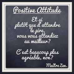 Positive attitude ~ citation français ~