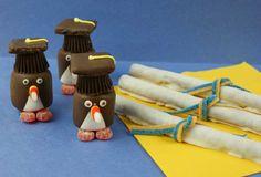 Graduation Penguins & Pretzel Diploma Recipe