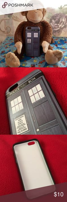 Dr Who iPhone Case This iPhone case is used and has some slight marking. Gives side and back protection. I've had this case for a while in storage. *** monkey is not included dr who Accessories Phone Cases