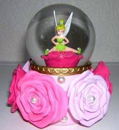 Disney Tinker Bell Rose Snowglobe
